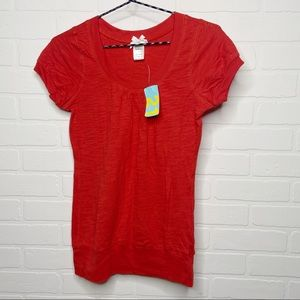 Forever 21 scoop neck t-shirt orange size small S